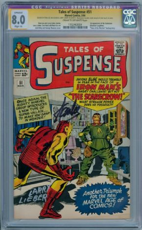 Tales Of Suspense #51 CGC 8.0 Signature Series Signed x2 Stan Lee Larry Lieber 1st Scarecrow Marvel